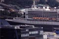 Hamburg, Blick vom Michel, Queen-Mary 2