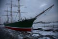 Hamburg, Rickmer Rickmers, Winter