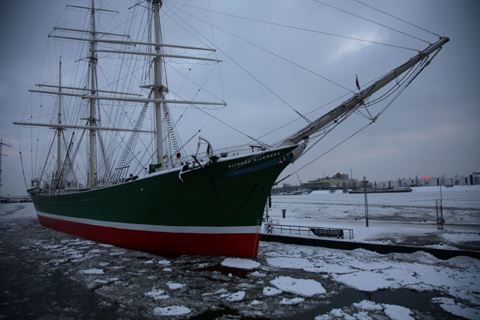 Winter-Impressionen, Rickmer Rickmers, Winter, Hamburg